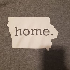 Next Level Apparel Tops - Iowa Grey Home 3/4 Sleeve Shirt